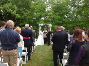A spring wedding on the side lawn!